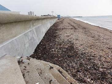 Typical sea wall (courtesy of Havant Borough Council)
